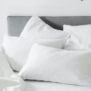 SATEEN FITTED SHEETS WHITE Простынь на резинке VANDYCK ITALY