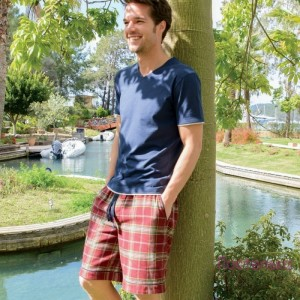 WILLIAM Пижама мужская (футболка + шорты) 100% хлопок CASUAL AVENUE