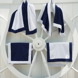 PORTOFINO Полотенце пляжное с вышивкой + 2 декор. подушки 50ч50 100% хлопок ABYSS & HABIDECOR